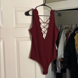 Forever 21 scrappy body suit